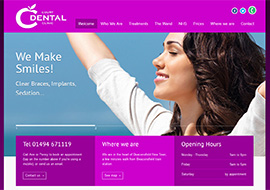 HTML website designed and built for dental practice in Beaconsfield